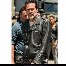 88843c4d4 The Walking Dead Jeffrey Dean Morgan Negan Leather Jacket