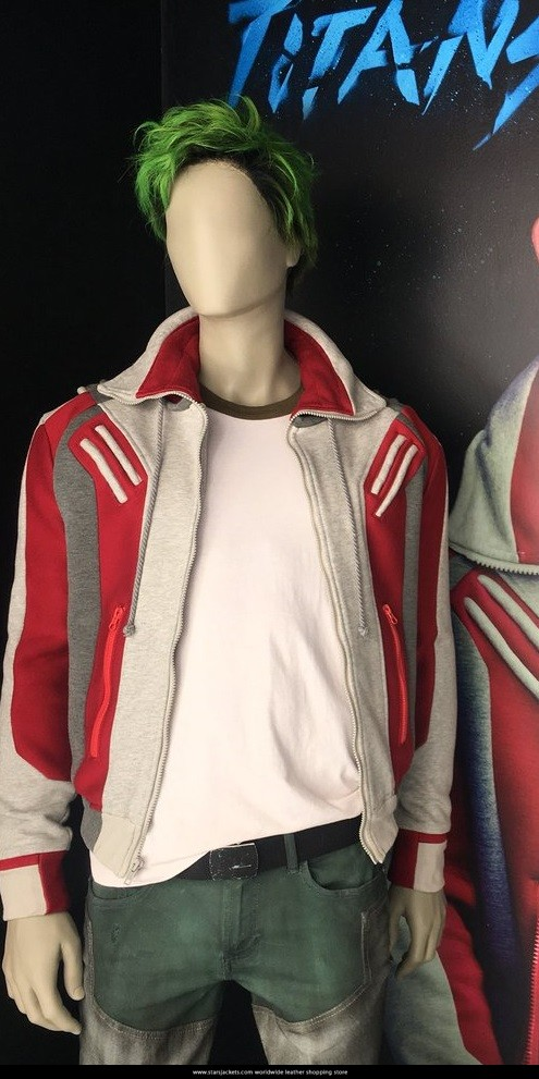 Red And White Ryan Potter Beast Boy Titans Jacket