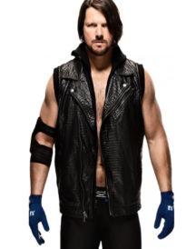 WWE AJ Styles Black Vest