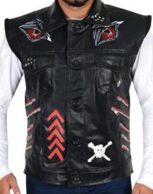 WWE Baron Leather Vest