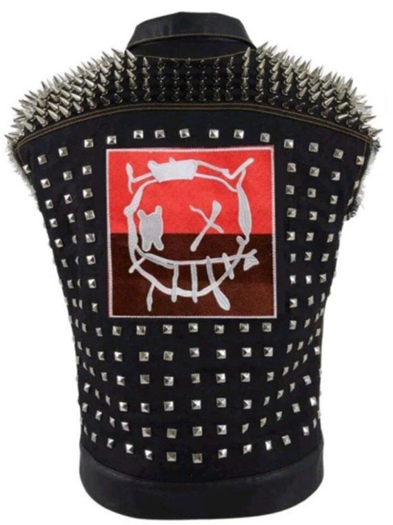 Watch Dog Punk Gaming Leather Vest