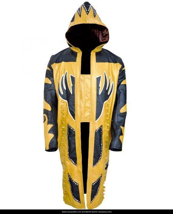 Wrestler Goldust Hooded Leather Coat