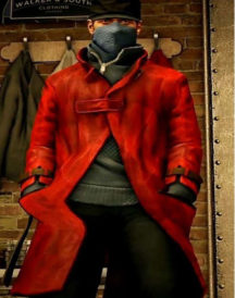 Aiden Pearce Watch Dogs Red Leather Coat
