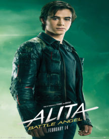Alita Battle Angel Keean Johnson Biker Leather Jacket