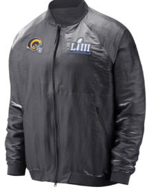 Angeles Rams Nike Gray Super Bowl LIII Bound Media Night Jacket