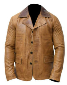 Arthur Morgan Red Dead Redemption II Brown Collar Leather Jacket