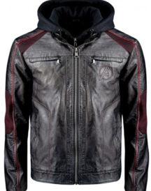 Avengers Premium Limited Edition Black Leather Custom Jacket