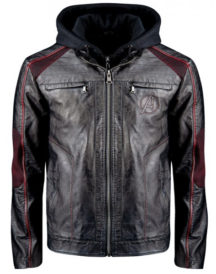 Avengers Premium Limited Edition Black Leather Custom Jacket