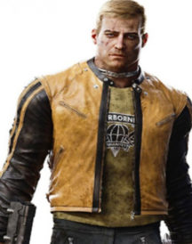 B J Blazkowicz Wolfenstein 2 Leather Yellow Leather Jacket