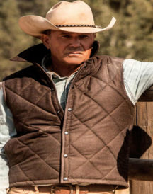 TV Show Yellowstone John Dutton Quilted Vest