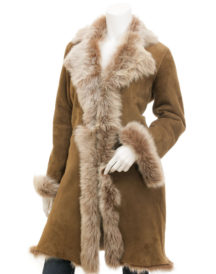 Toscana Shearling in Taupe Madison Fur Coat
