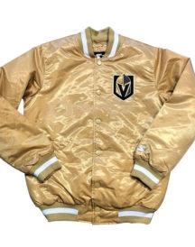 Vegas Golden Knights Men's Satin Sports Varsity Jacket