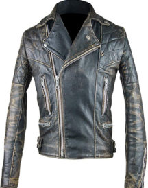 Vintage Cafe Racer Retro 2 Motor Cycle Antique Jacket