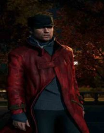 Watch Dogs Video Game Aiden Pearce Leather Coat