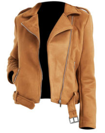 Women Genius Brown Biker Leather Jackets