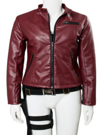 Womens Claire Redfield Resident Evil Leather Jacket