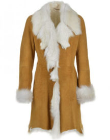 Women,s Octavia Shearling Tan Coat