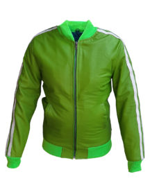 Pharrell Williams 2014 Green Leather Jacket