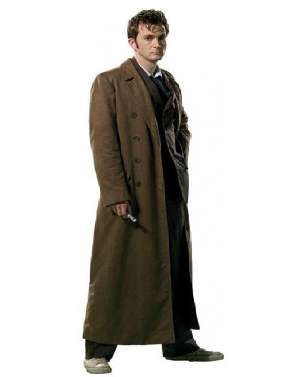 10th Doctor David Tennant Brown Coat