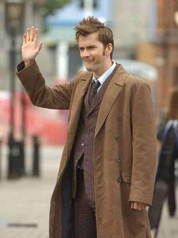 10th Doctor David Tennant Cotton Long Coat