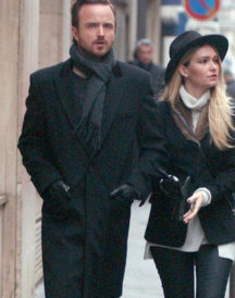 Aaron Paul Paris Stylish Wool Trench Coat