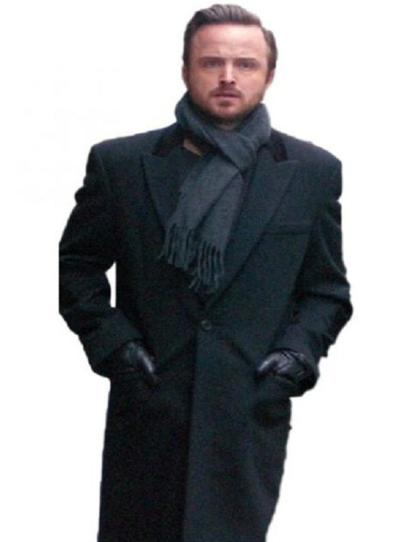 Aaron Paul Paris Wool Trench Coat