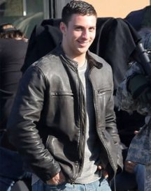 Aaron Taylor Johnson Godzilla Block Leather Jacket