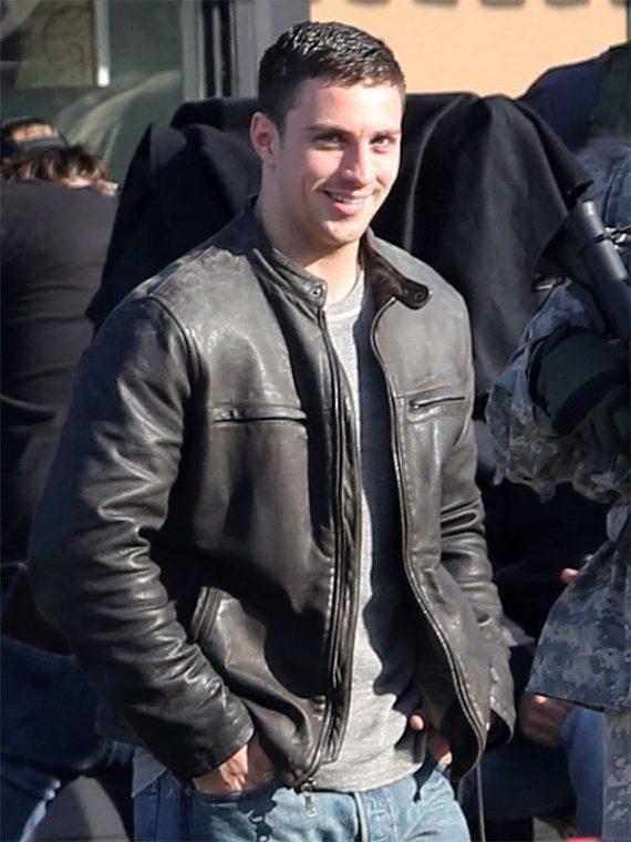 Aaron Taylor Johnson Godzilla Block Leather Jacket