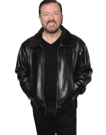 After Life Ricky Gervais Fur Leather Jacket