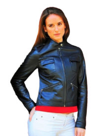 Akira Black women Leather Jacket
