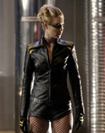 Alaina Huffman Smallville Black Leather Jacket