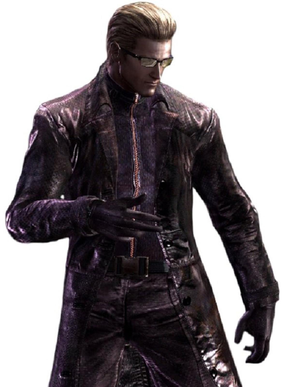 Albert Wesker Resident Evil 5 Purple Coat Stars Jackets