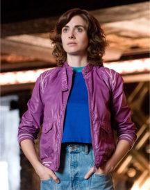 Alison Brie Glow Purple Jacket