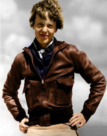 Amelia Earhart Brown Bomber Leather Jacket
