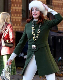 Anne Hathaway Modern Love Green Coat