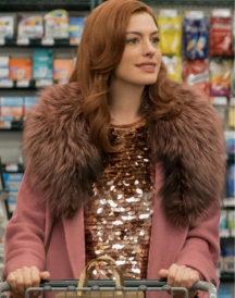 Anne Hathaway Modern Love Pink Coat