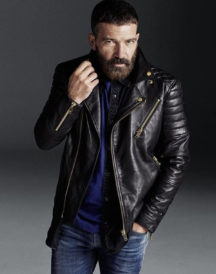 Antonio Banderas Padded Design Motorcycle Jacket