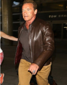 Arnold Schwarzenegger Brown Jacket