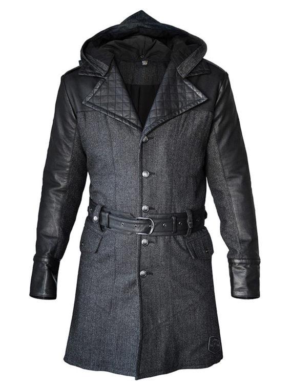 Assassin's Creed Syndicate Jacob Frye Black Wool Coat