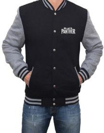 Black Panther Mask Logo Letterman Jacket