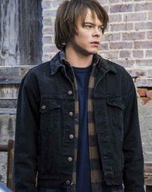 Charlie Heaton Stranger Things Black Denim Jacket