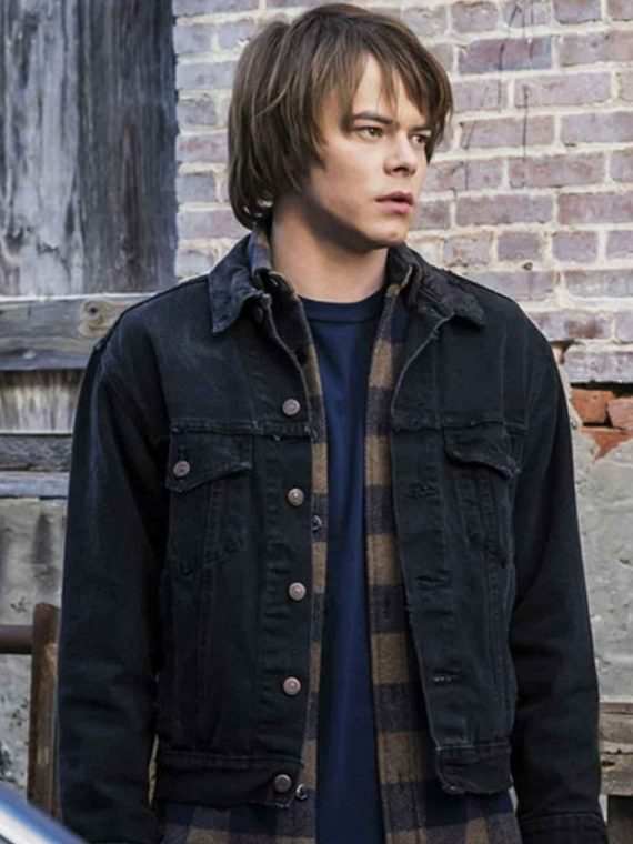 Charlie Heaton Stranger Things Black Denim Jacket