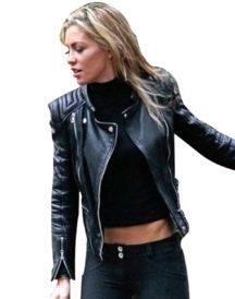 Clancy Black Biker Black Leather Jacket