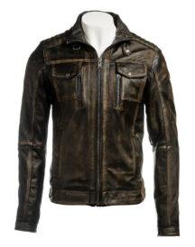 Men Vintage Biker Leather Jacket