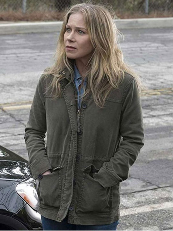 Christina Applegate Dead to Me Cotton Jacket