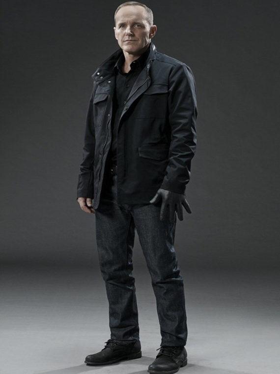 Clark Gregg Agents of Shield Cotton Black Jacket