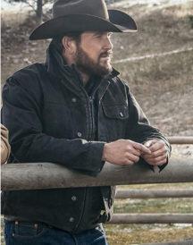 Cole Hauser Yellowstone Rip Black Jacket