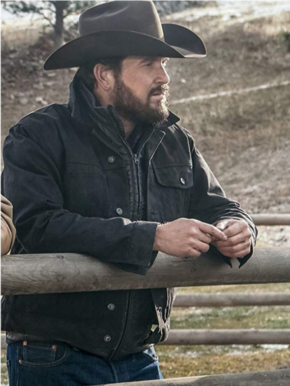 Cole Hauser Yellowstone Rip Black Jacket