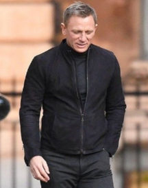 Daniel Craig Black Suede Jacket