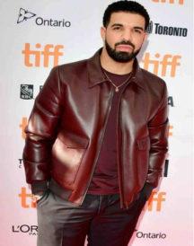 Drake Bomber Leather Jacket